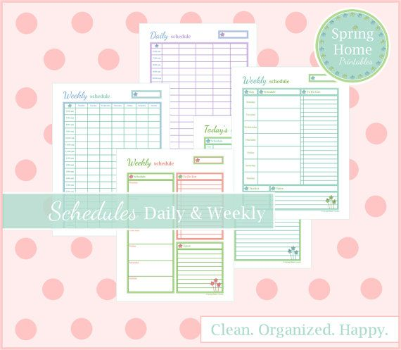 The SCHEDULE Kit, Printable Schedule, Planner Pages