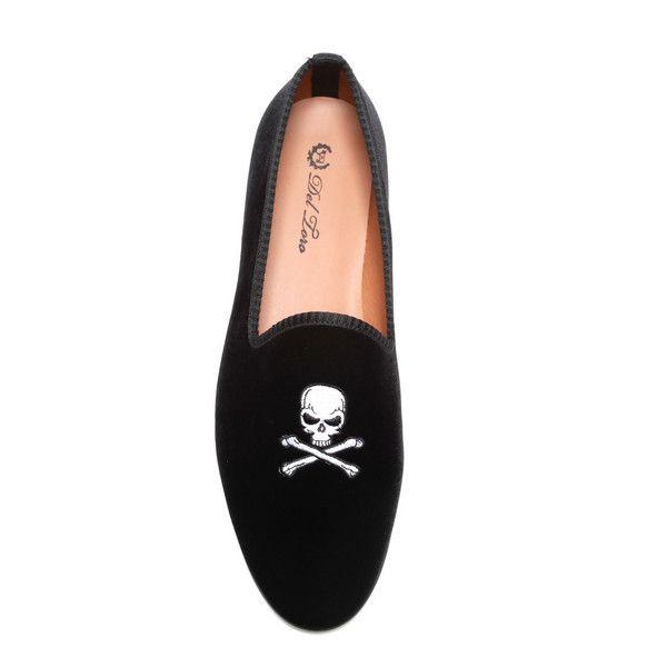 DEL TORO Velvet Skull Smoking Loafers 7jHqt2
