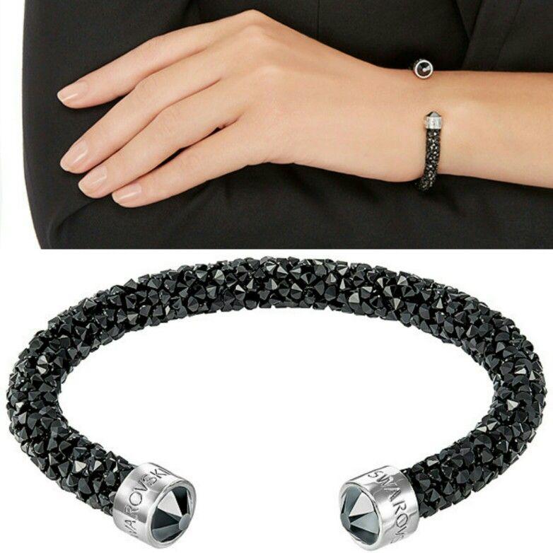73fdba4007f43 Swarovski Crystaldust Cuff, Black €69,00 | Jewelry | Swarovski ...