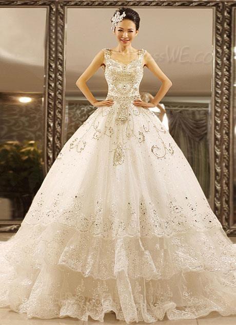 $563.39 Dresswe.comサプライ品グラマラスなチャペルの列車のウェディングドレス Vネック