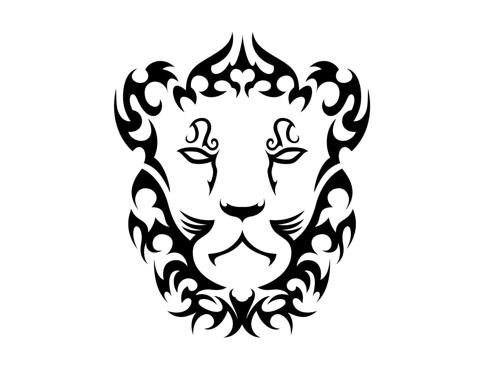 Sign tattoo designs - Nice Tribal Lioness Leo Sign Tattoo Design For