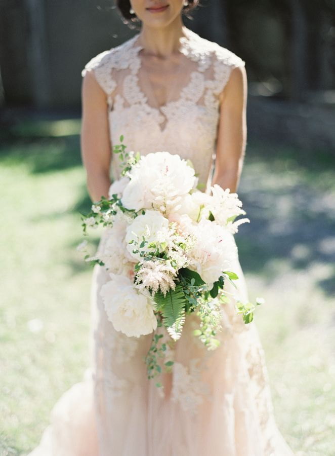 Elegant white peony wedding bouquet: http://www.stylemepretty.com/2015/11/10/elegant-alder-manor-wedding/ | Photography: Judy Pak - http://judypak.com/