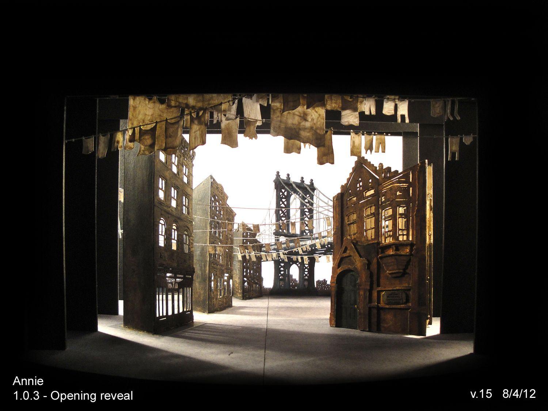 Annie Broadway Jr Set Design Set Models For Annie Annie On Broadway Content From Live Design Stage Set Design Set Design Theatre Scenic Design