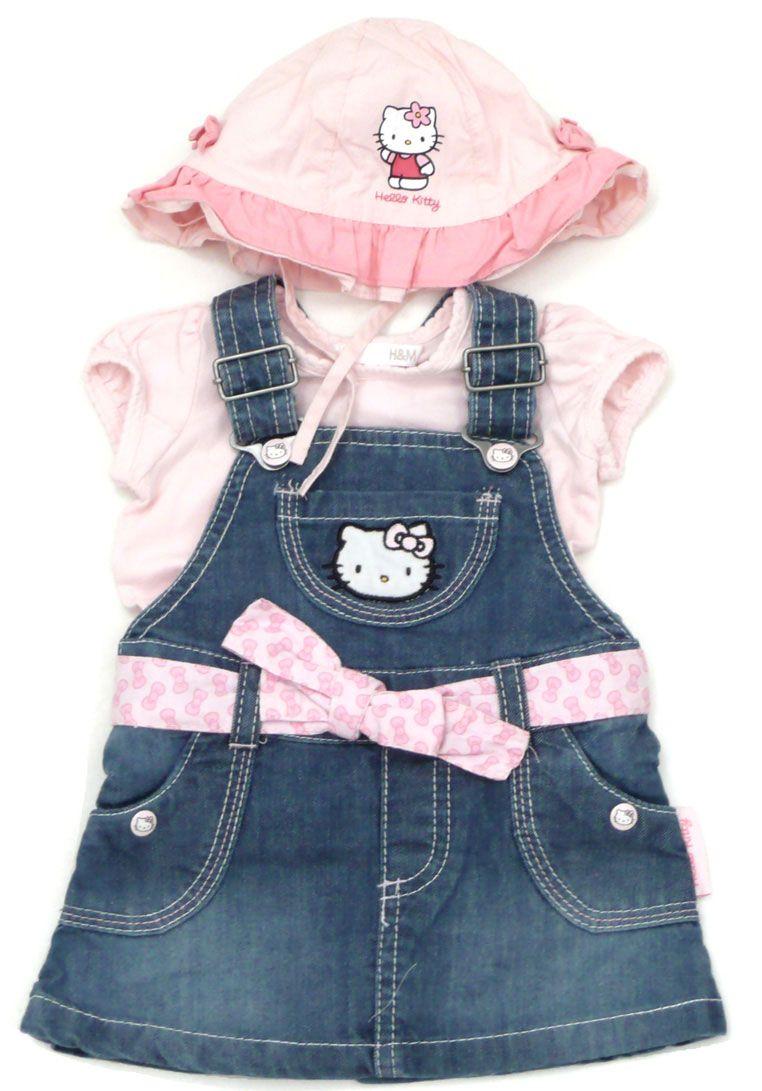 Es wird warm und wir freuen uns auf die nächsten frühlingshaften Kombinationen! Heute mal mit #HelloKitty Jeanskleid und Mütze plus rosa T-Shirt ♥