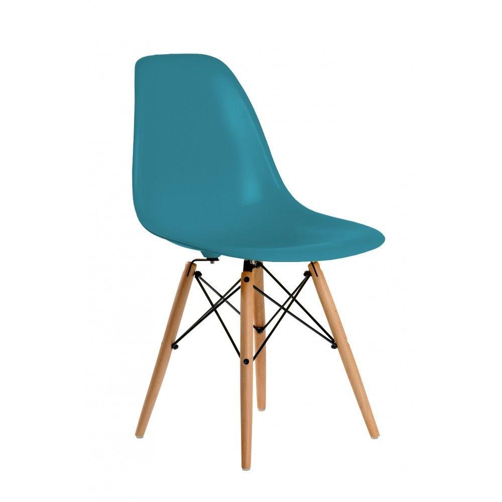 Silla Eames Réplica - Todos los colores. Silla con patas de madera ...