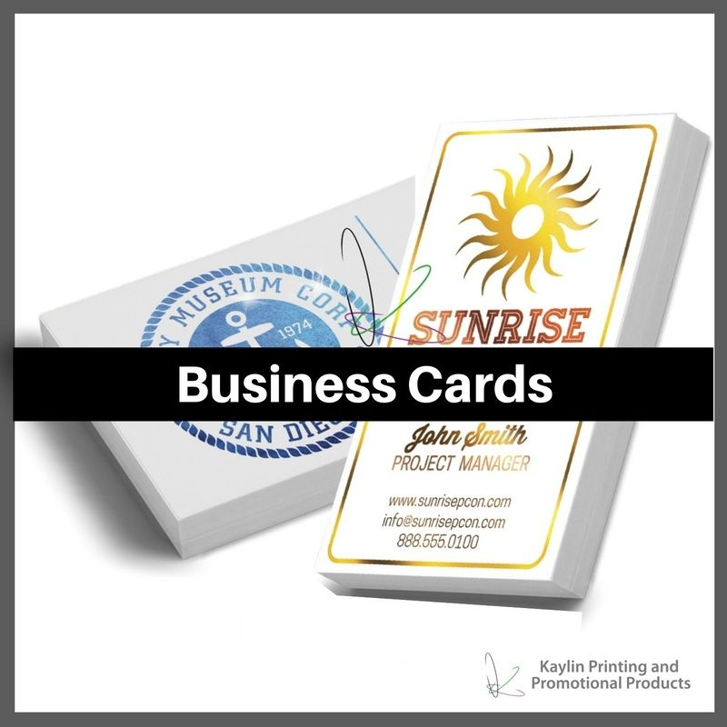 Business Cards printed and personalized with your custom imprint ...