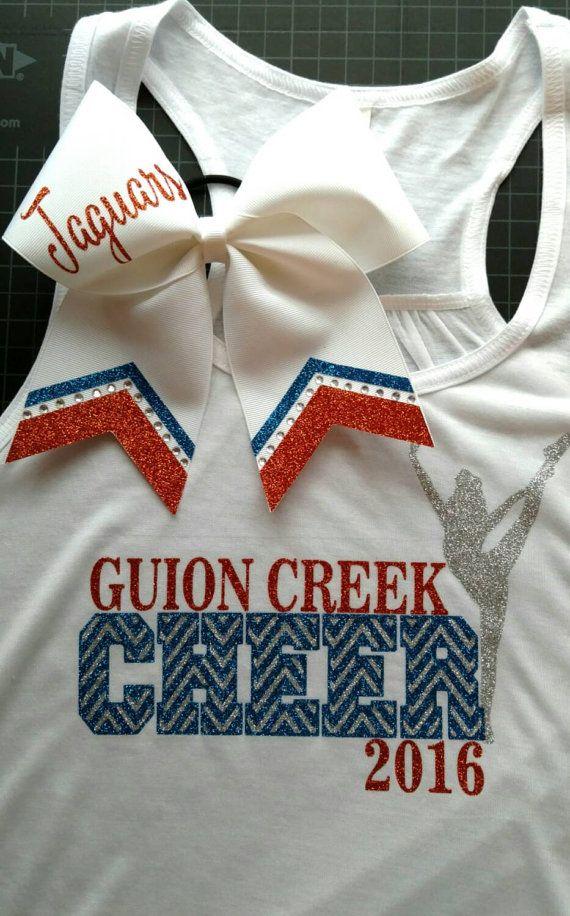 Matching Custom Shirt And Bow Set Cheerleading Shirt Big