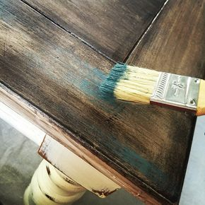 Dry Brush Over Stain Painting Over Stained Wood Chalk