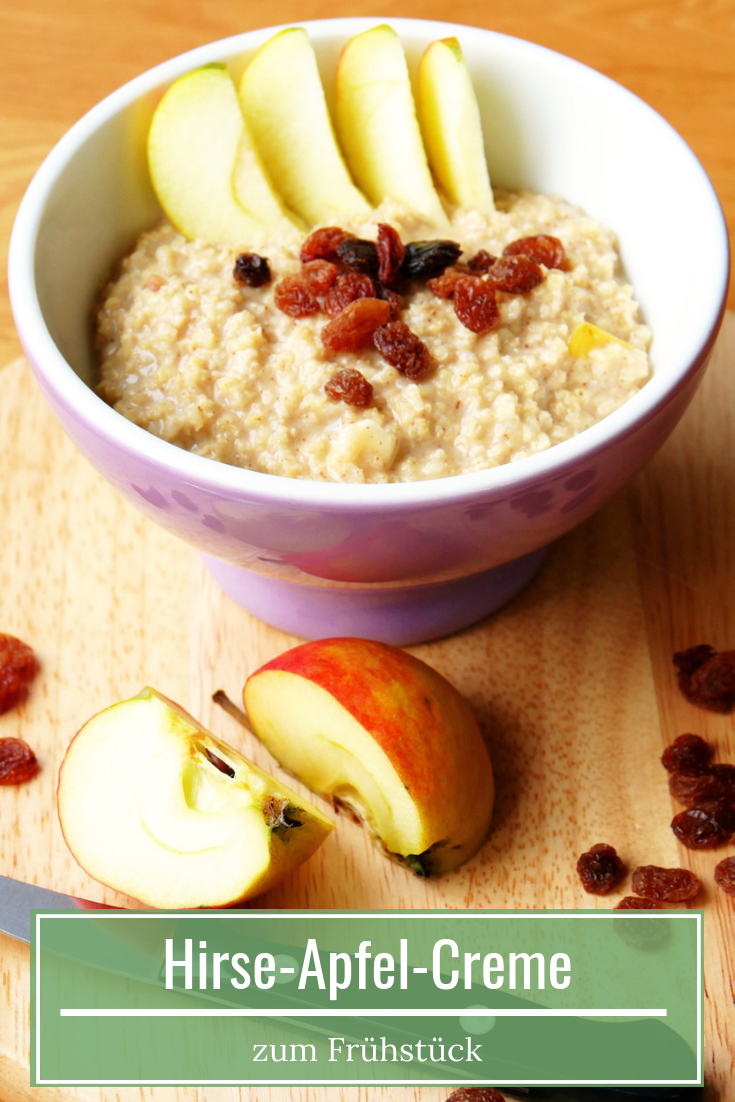 Photo of Healthy breakfast: millet-apple cream