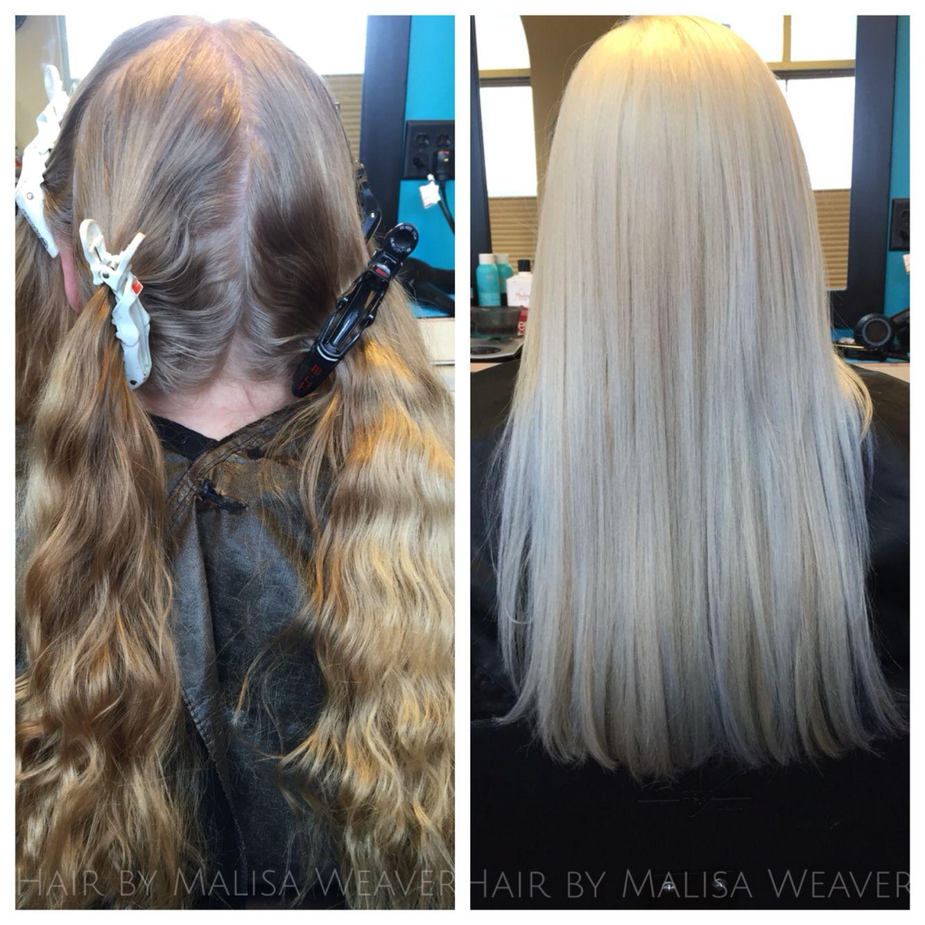 Before & After platinumblonde blonde olaplex platinum
