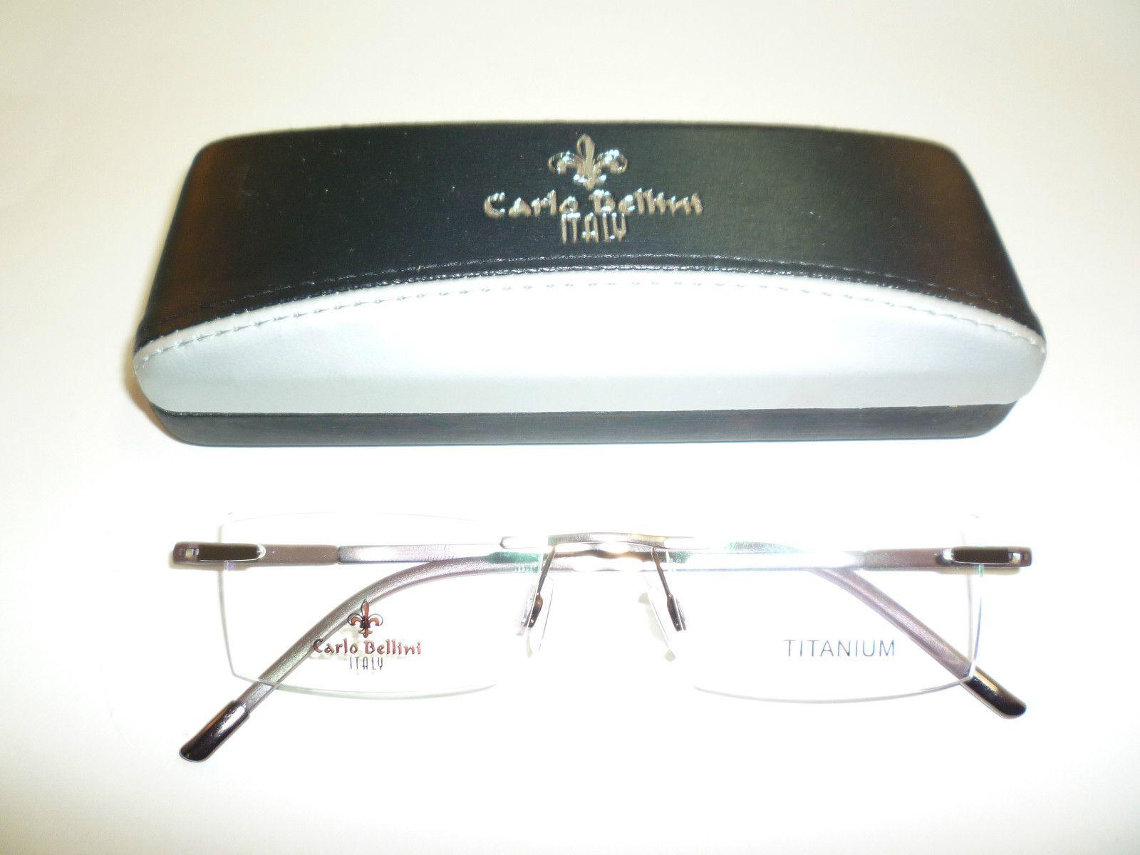 Carlo Bellini Italian Eyewear, Rimless Titanium Frames, Buffalo Horn ...