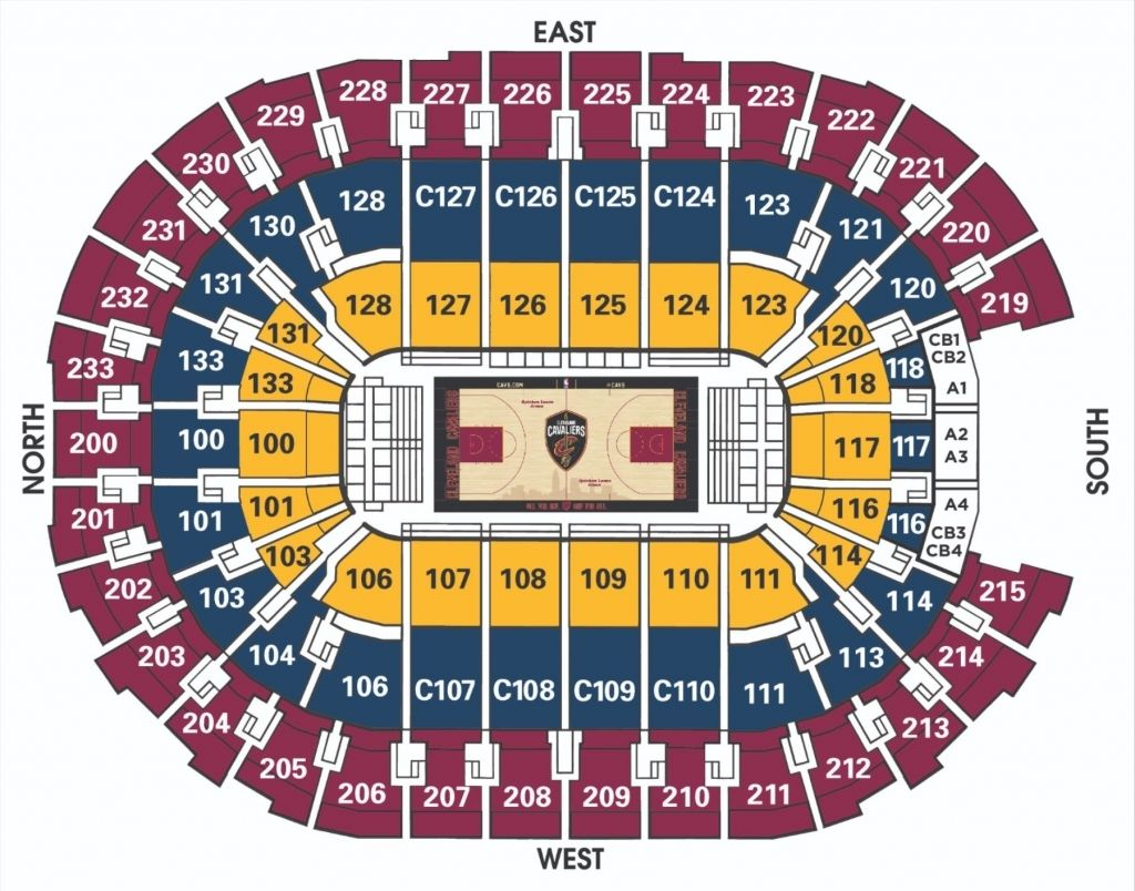 The Brilliant Quicken Loans Arena Seating Chart With Rows And Seat Numbers Di 2020