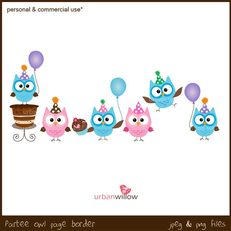 19677375a68e709992d672ad2701aeca zoom party owls clipart owl border rh pinterest ie