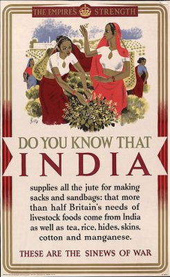 British WWII Propaganda Poster Offering Information On Colonial Allies This Offers Facts About India