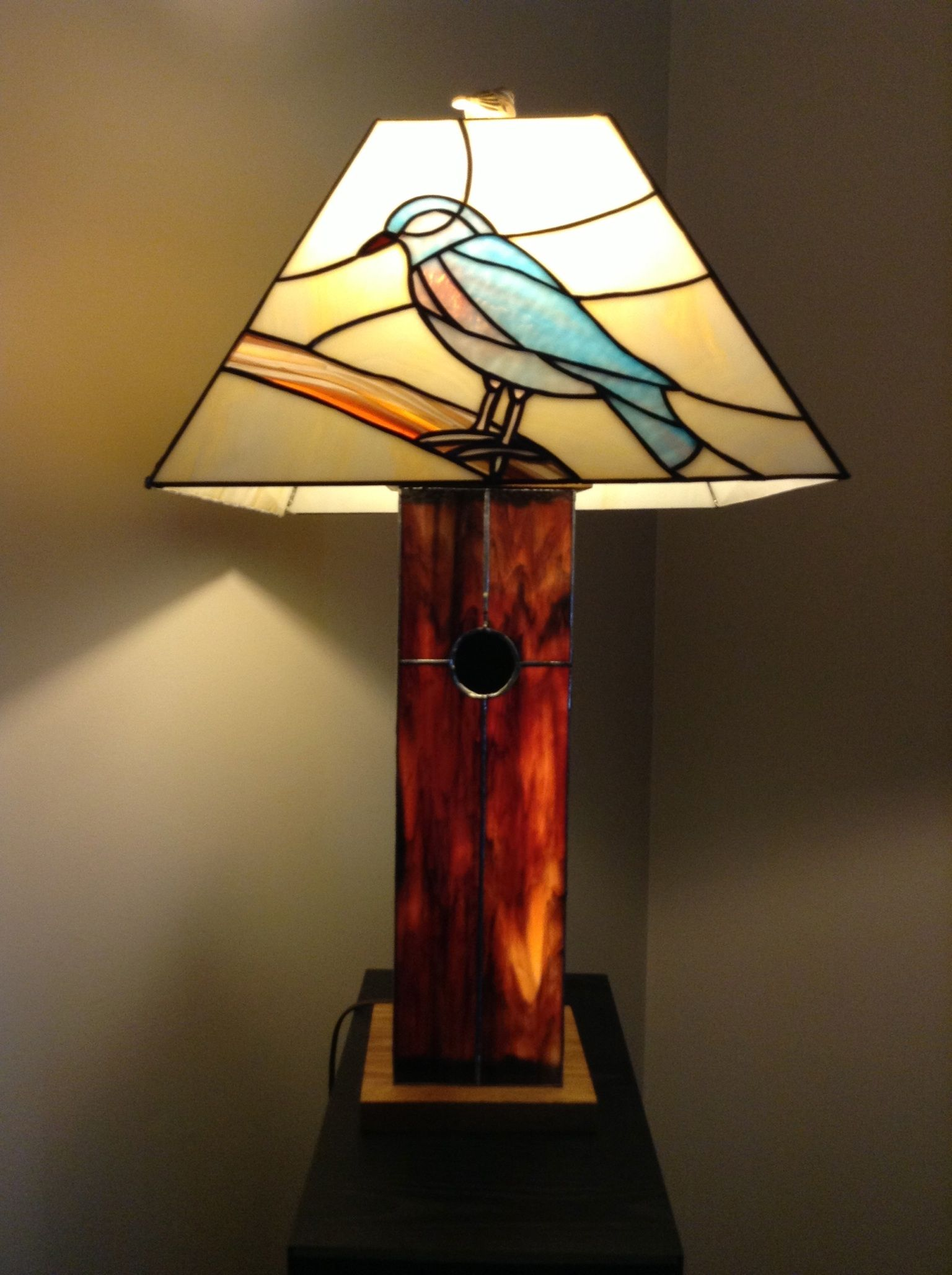 lamp silver tall humming bird in leaf pewter grey lamps finish distressed floor tree painted