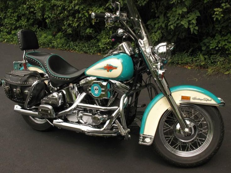 Mojo: Lydia's bike (only rep teal with red). 1992 Harley 1340 ...