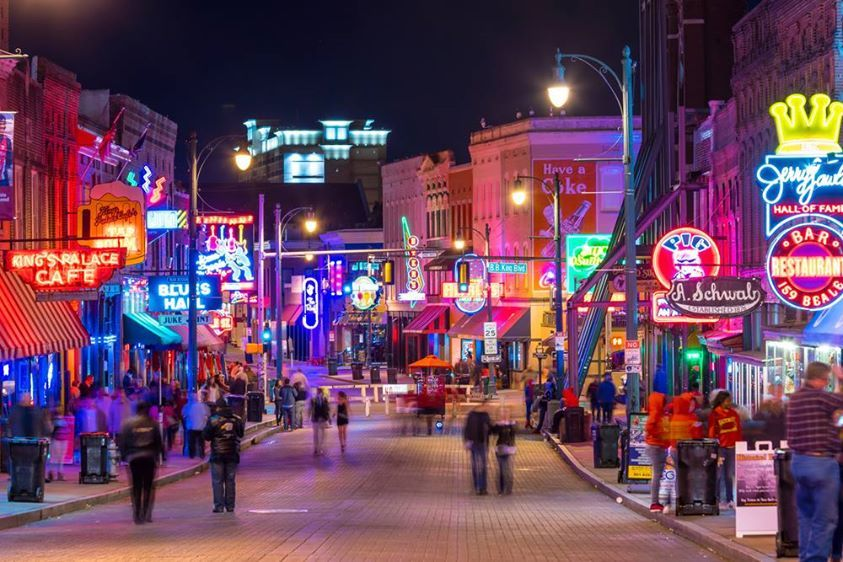 2018 New Year S Eve Celebration Beale Street Memphis Tennessee I 55 Southbound Memphis American Road Trip Three Day Weekend