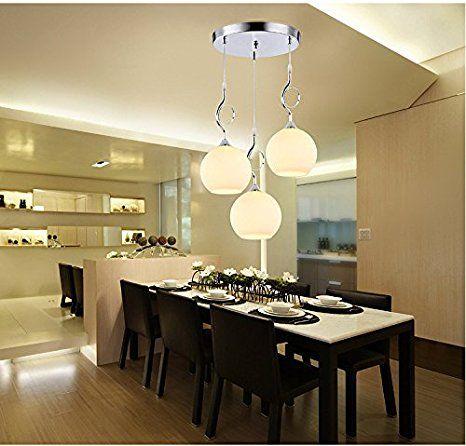lampadario in vetro moderno minimalista luci ristorante ...