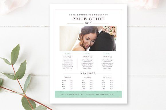 Photography Price List Template by By Stephanie Design on - Price Sheet Template
