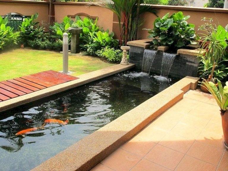 34 Admirable Modern Backyard Design Ideas You Will Love Homepiez Ponds Backyard Backyard Garden Design Koi Pond Design