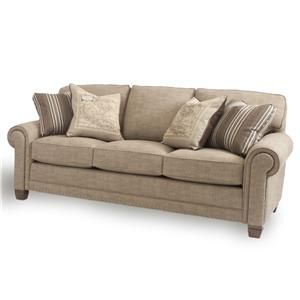 Smith Bros sofa in oatmeal fabric, with or without nailhead