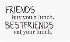 Love sharing food with ur BFF | Life | Friendship Quotes, Quotes