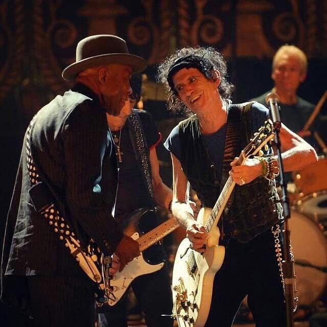 Buddy Guy and Keith Richards