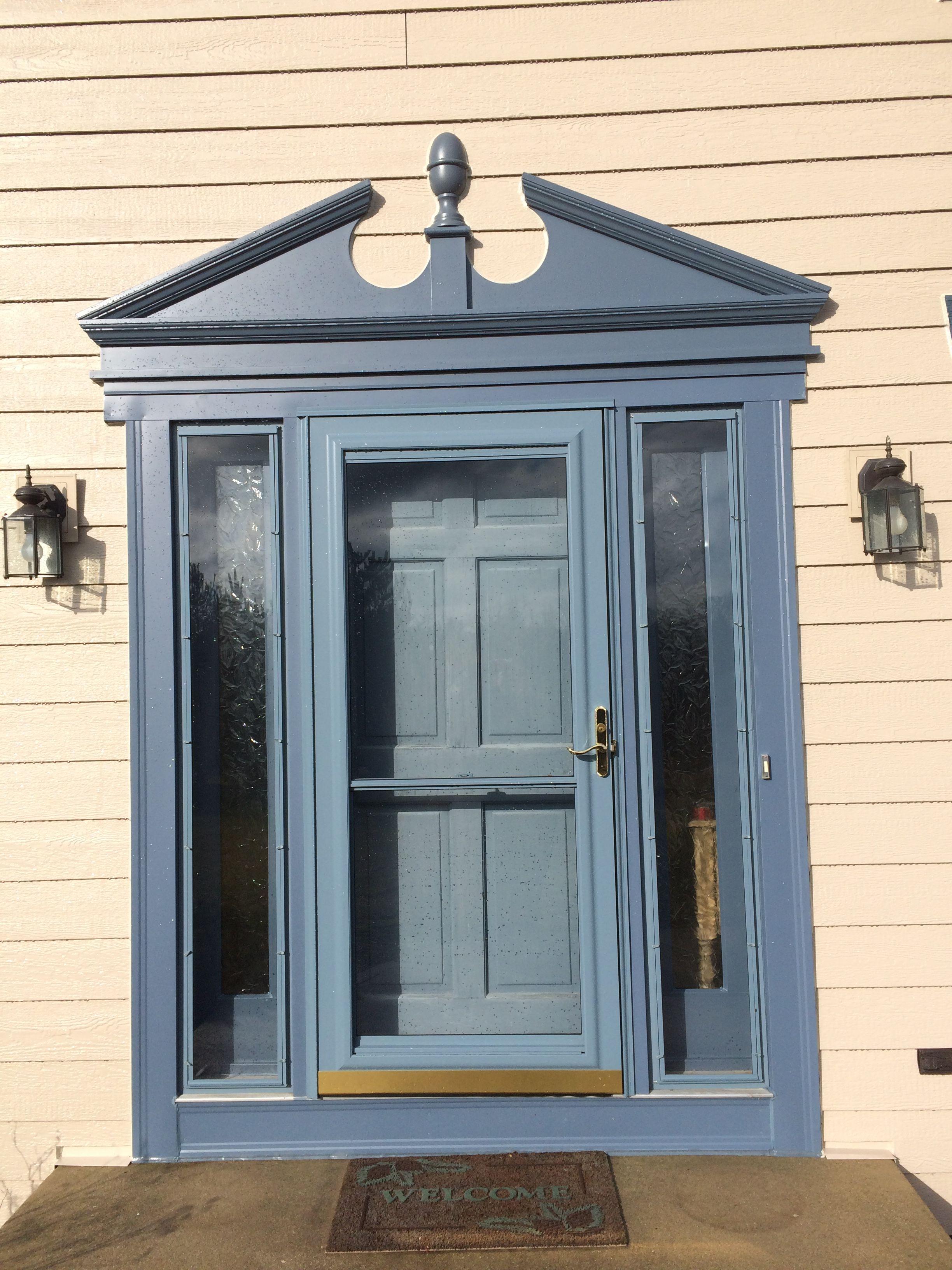 Door Surround Is Made Of A Fypon Custom Door Surround In Geneva Blue
