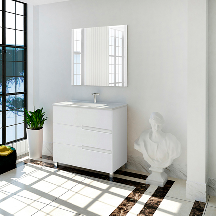 Mueble Baño Alda Blanco 80 Cm Leroy Merlin Muebles De Lavabo Muebles De Baño Lavabo De Pedestal