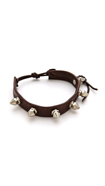 => Chan Luu Spike Bracelet    Cheap Price  Spikes complete the edgy look of a leather Chan Luu bracelet. Adjustable length and button clasp.Imported, Vietnam.MEASUREMENTSWidth: 0.5in / 1.25cmLength: 6.5-8in / 16.5-20cm  Reasonable Price until you click to see price