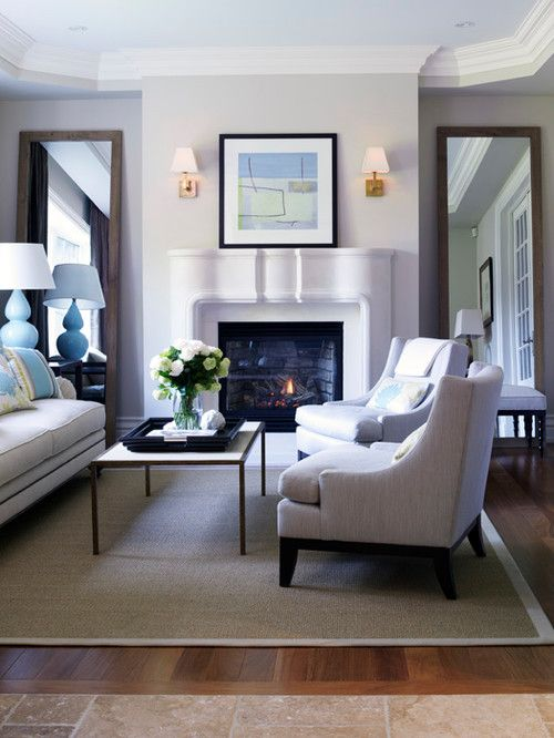 Double Mirrors Again Living Room Mirrors Living Room Decor
