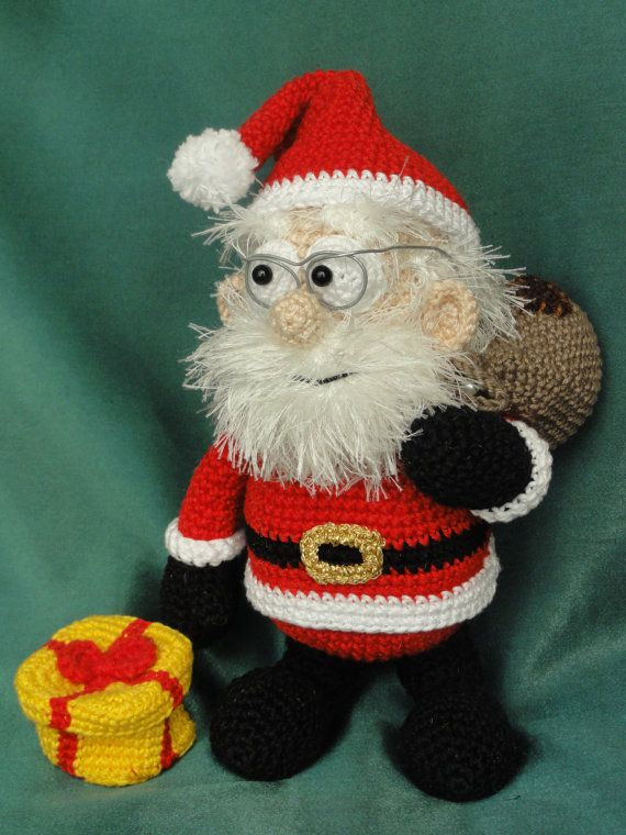 Amigurumi Crochet Pattern Santa Claus English Version Stricken