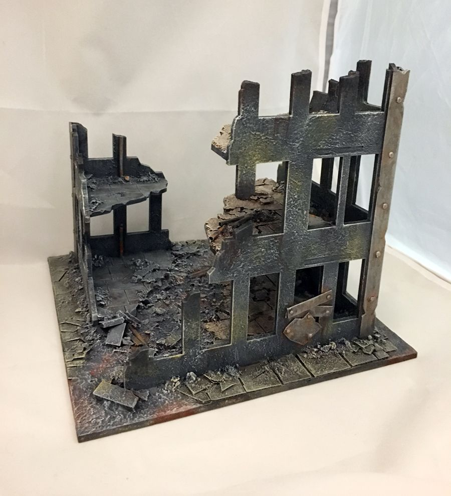 Warhammer Cities of Death MDF destroyed building