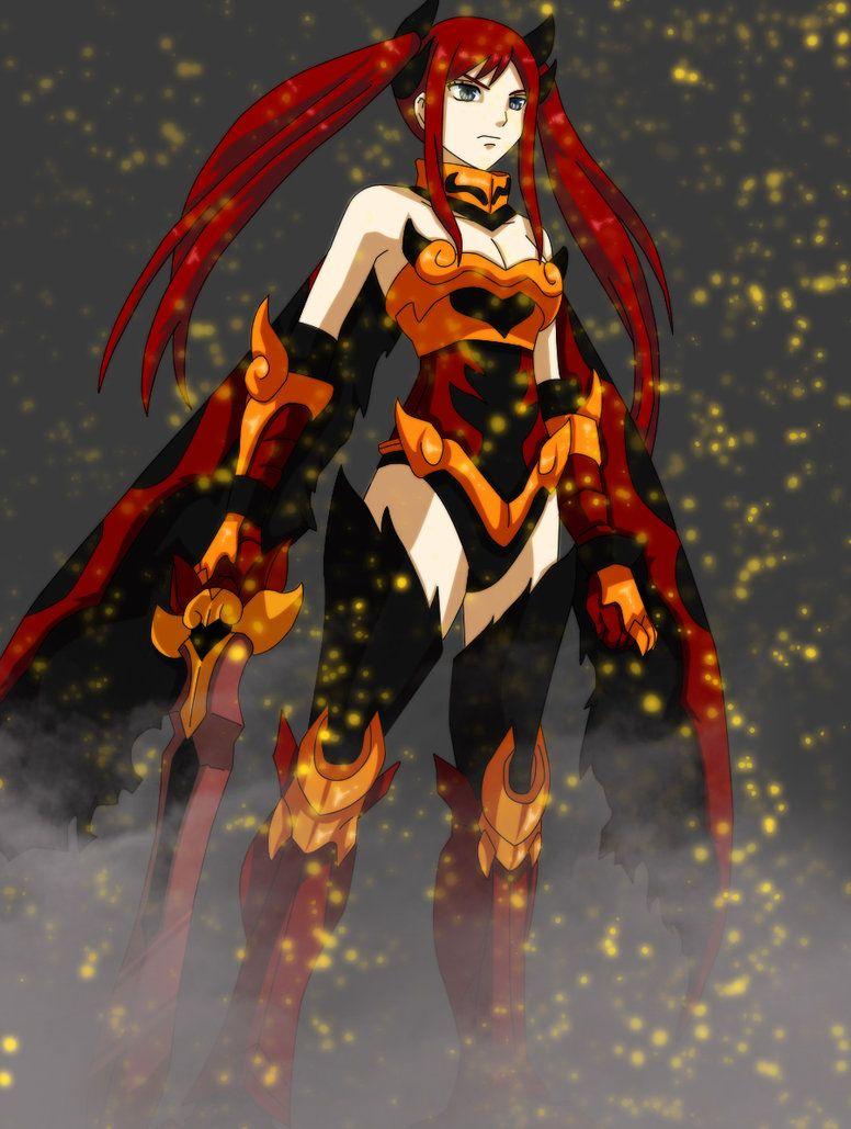 erza scarlet flame empress armorby ramix93 erza scarlet