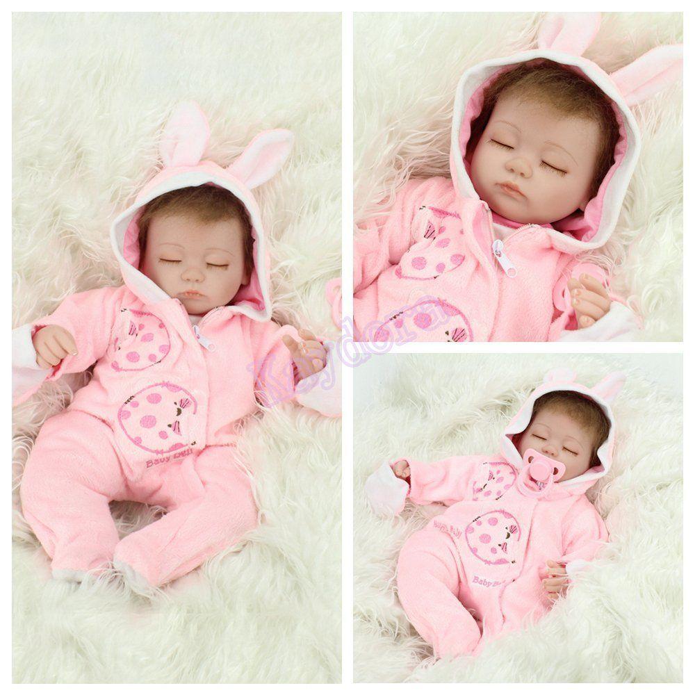 """Realistic 16/"""" Reborn DollBaby Dolls Vinyl Silicone Newborn Cute Birth Xmas Gift"""