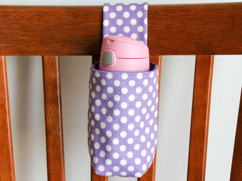Bunk Bed Drink Holder Purple Polka Dot Hiking Insulated Bottle