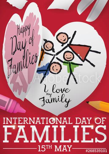 Cute Childish Craft To Celebrate International Day Of Families International Family Day International Day Childish