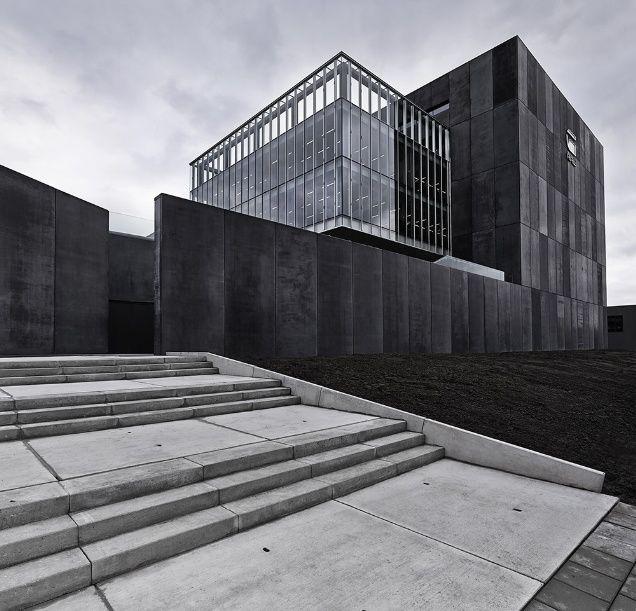 Black Concrete G Star, OMA | Facade architecture