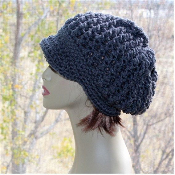 Check out this item in my Etsy shop https://www.etsy.com/listing/476516014/newsboy-slouchy-hat-charcoal-grey-womens