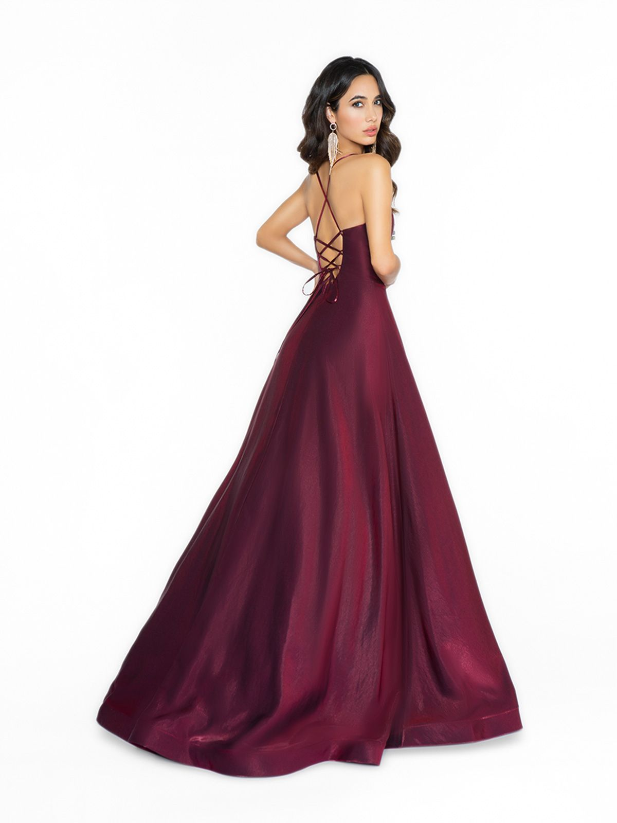 Style 3717ry Satin A Line Gown With Asymmetrical Hem A Line Gown Prom Dresses Dresses [ 1600 x 1200 Pixel ]