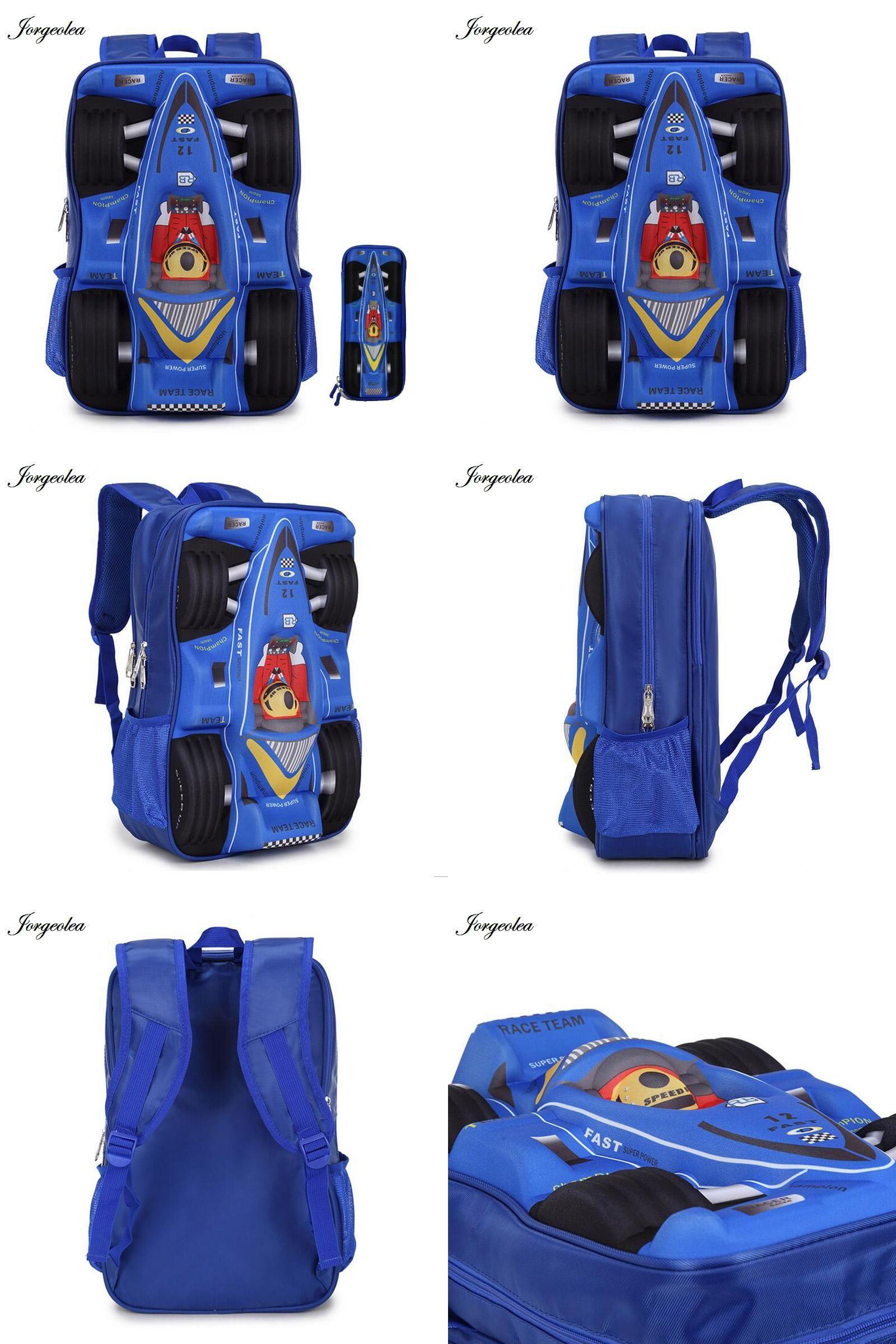 62aa27fda9 Visit to Buy  For 2017 New Term 3D Car EVA Cool Boy School Bags Kid ...