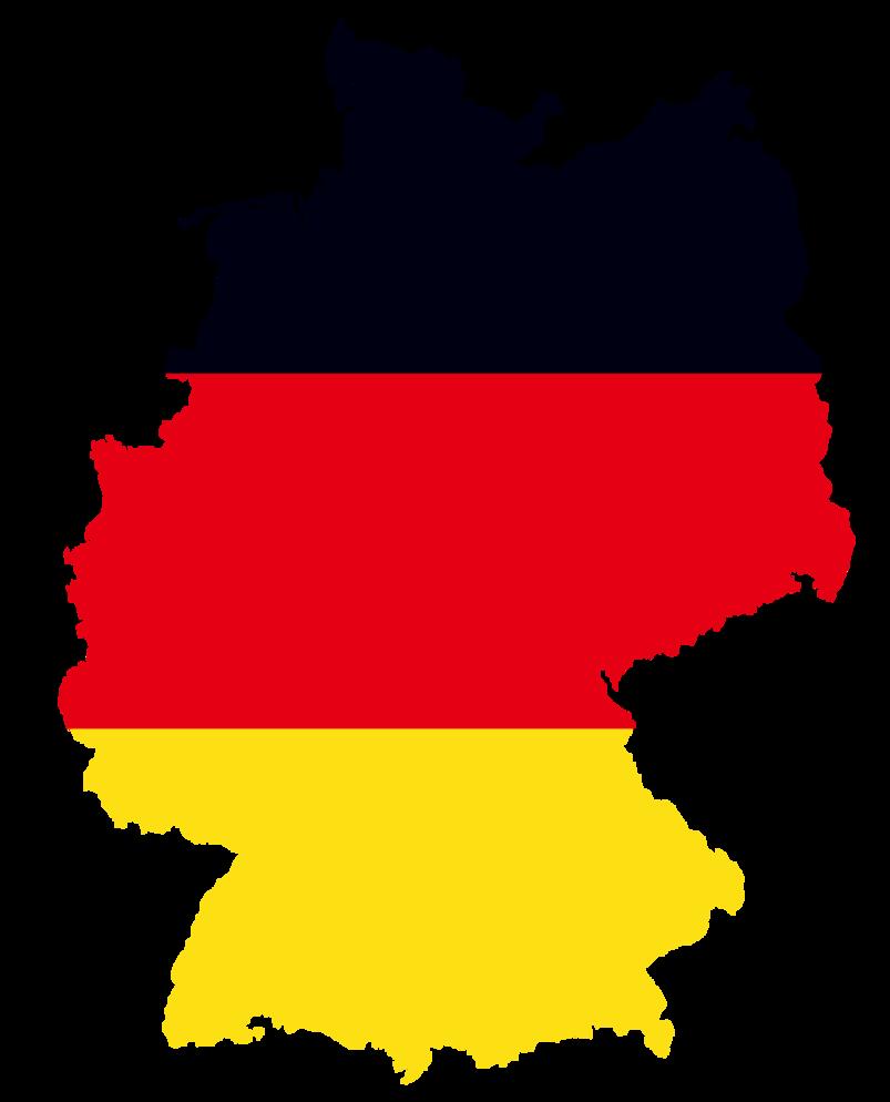 German flag on Detailed Germany Map by Jestemturk   Germany