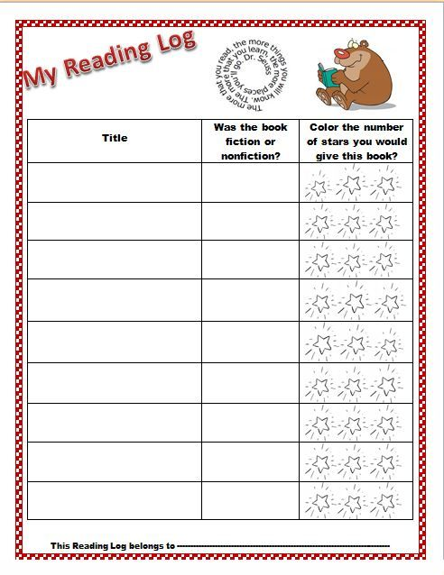 Free Reading Log! Simple template, cute graphics, and giving a star rating to books will keep kids reading!
