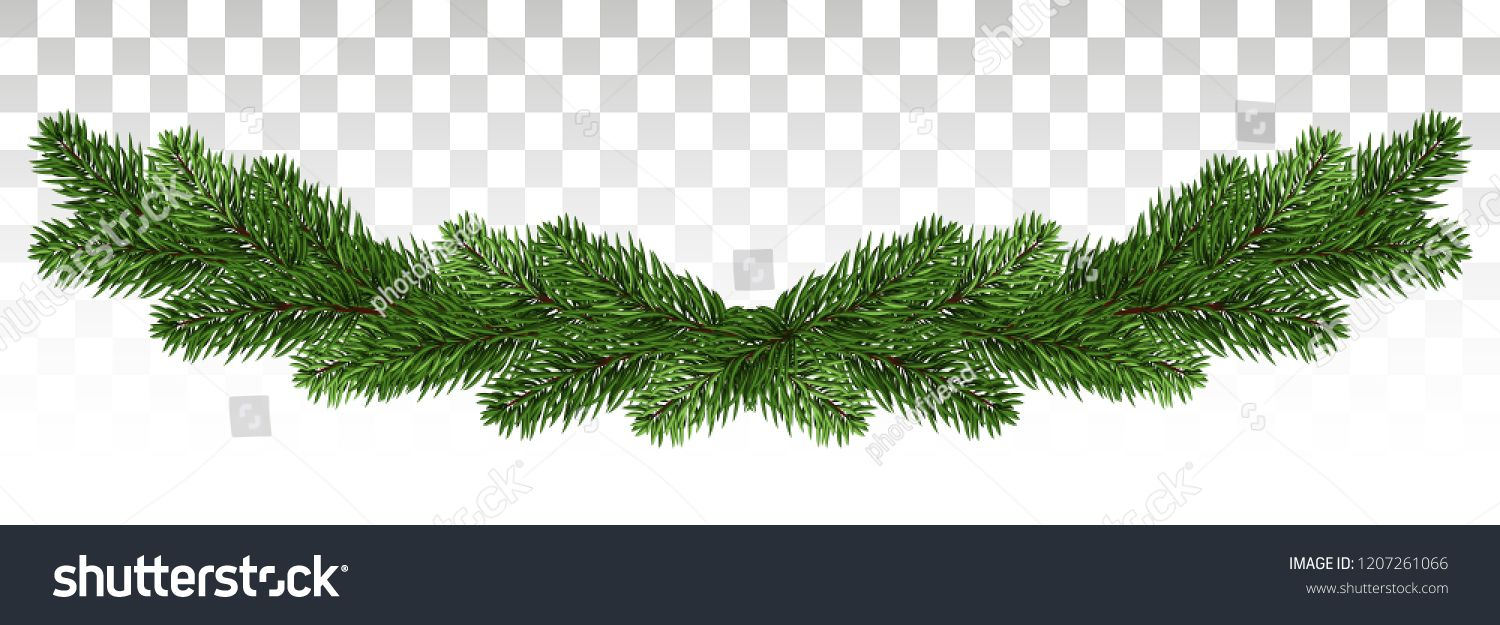 Christmas Garland With Fir Branches Set Of Green Christmas Tree Branches Borders Isolated Holiday Christmas Garland Green Christmas Tree Christmas Branches