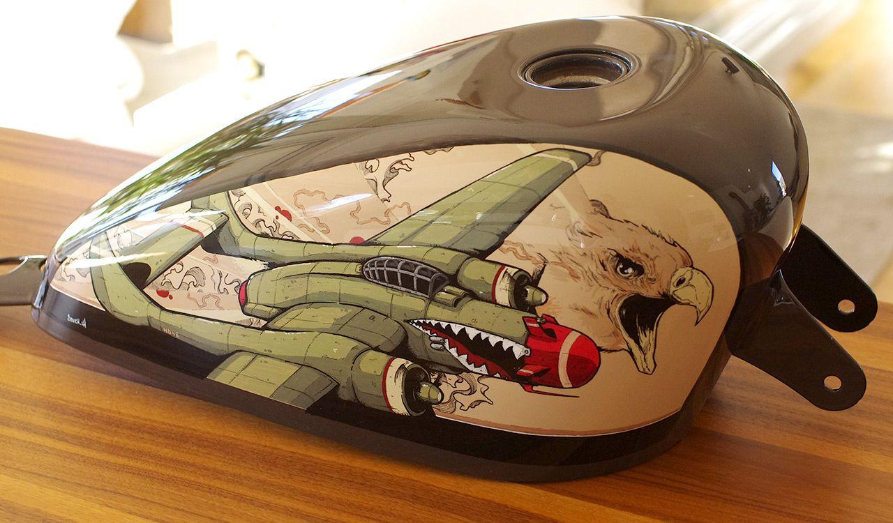 картинки бензобак мотоцикла эти годы любители