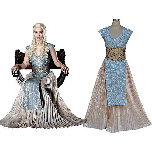 game of thrones daenerys targaryen kleid kost m idee zu. Black Bedroom Furniture Sets. Home Design Ideas
