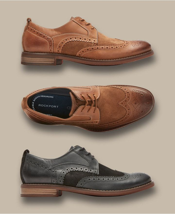 Rockport Men's Wynstin Wingtip Oxfords Men's Shoes | Brown