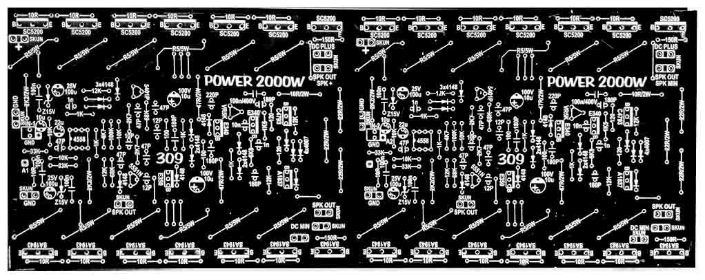DIY 2000W High Power Amplifier 2SC5200 2SA1943 | Places to