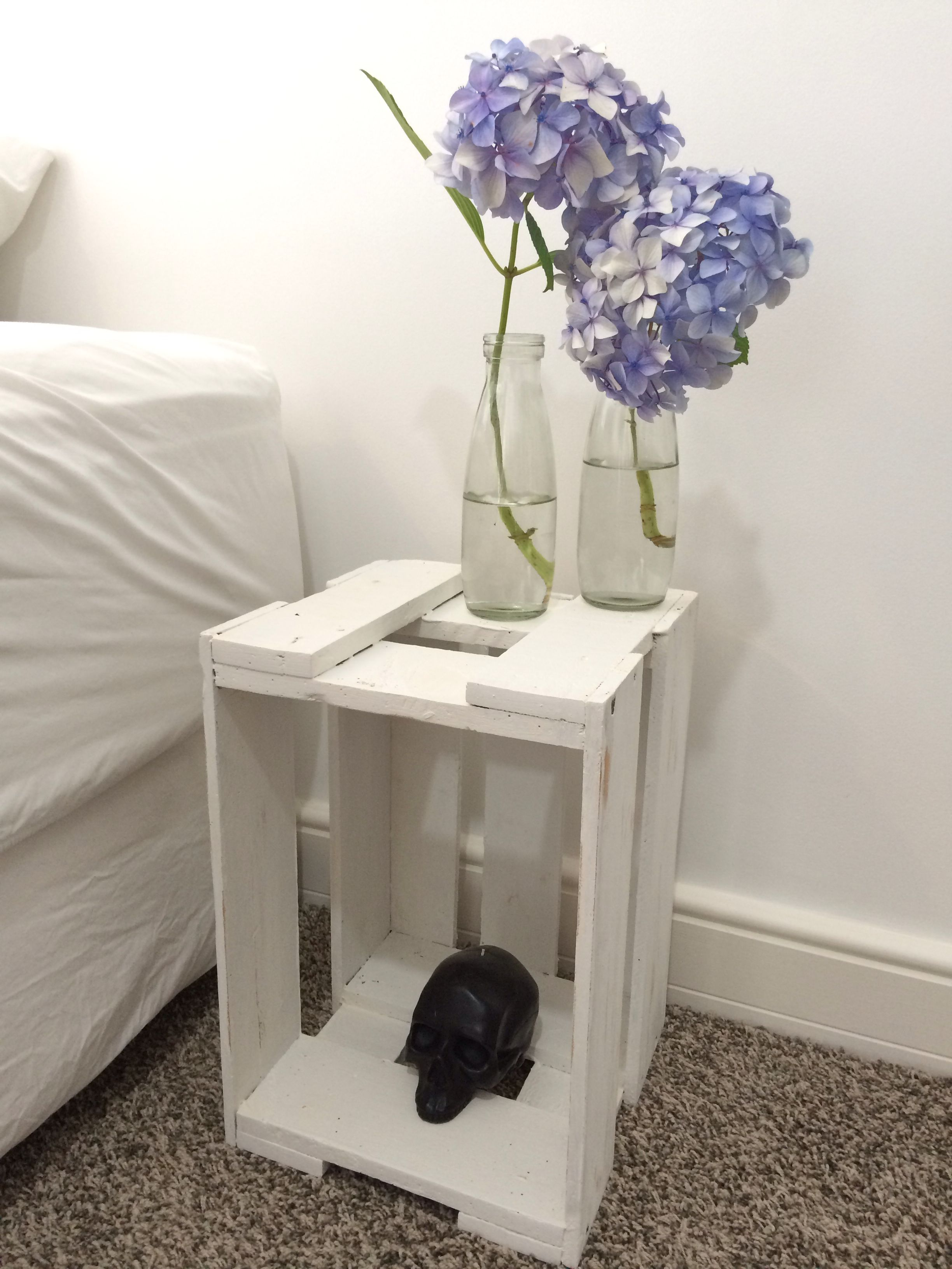 Beer Crate Bedside Table Home Decor In 2019 Pinterest Wooden