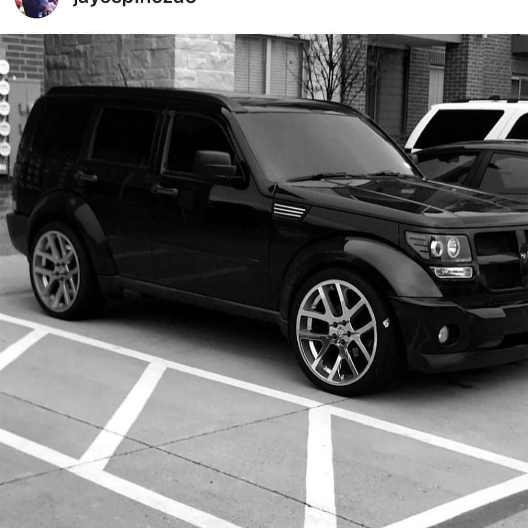 Jayespinoza5 S Nitro Sitting Pretty And Rolling On Replicas Wrapped In Nittotire 420s With Retrofitted Headlights By Traphousecu Dodge Nitro Dodge Suv Nitro